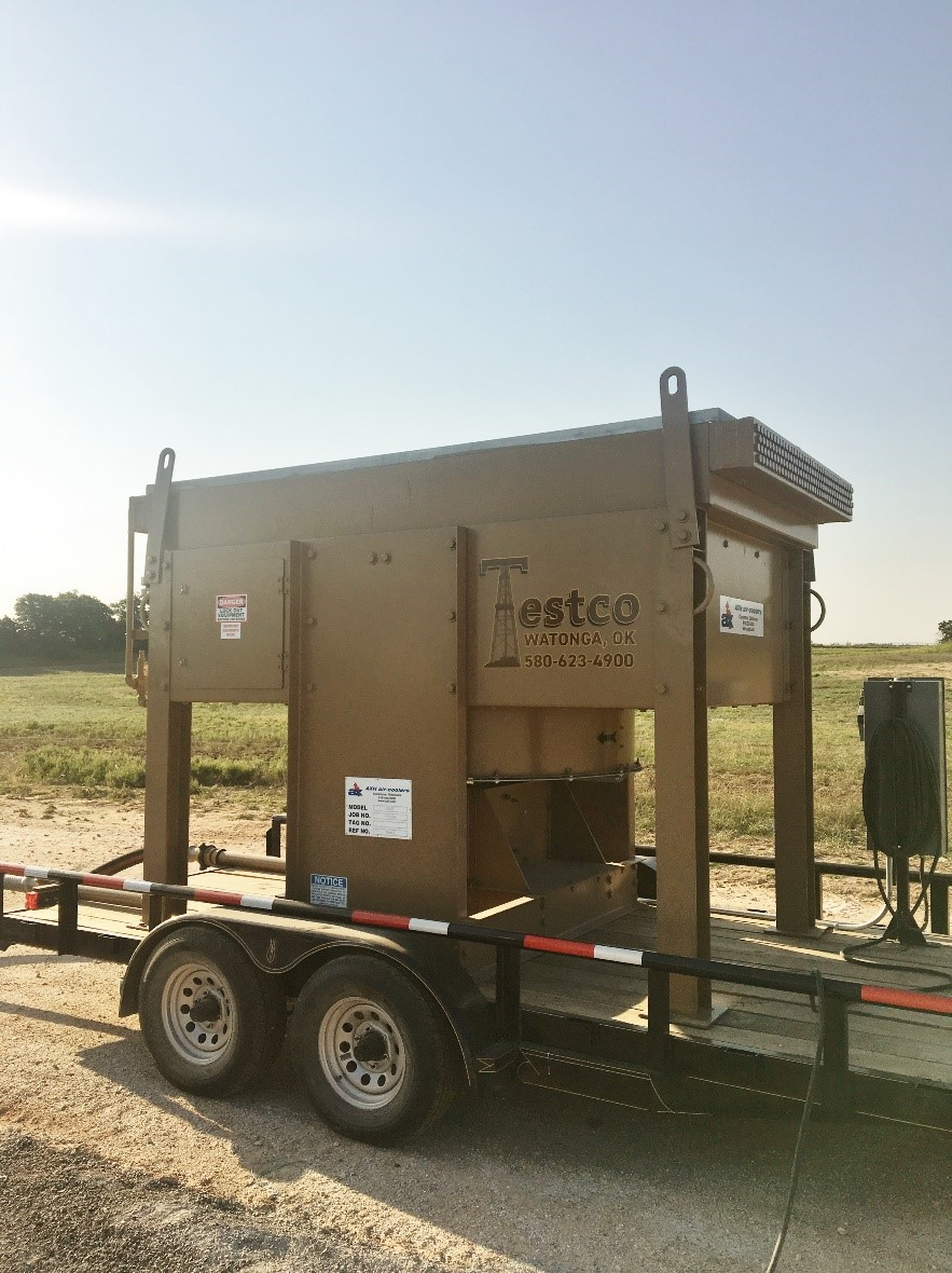 oilfield gas cooler rental