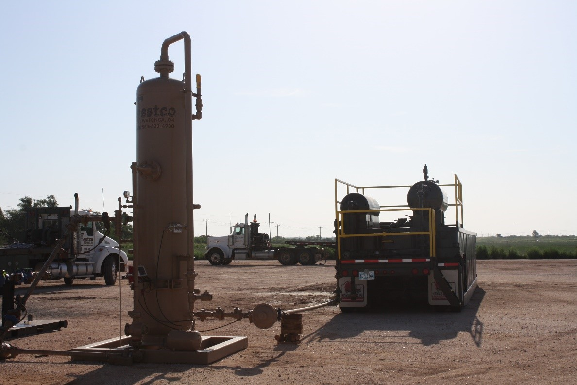 oilfield sand separator rental